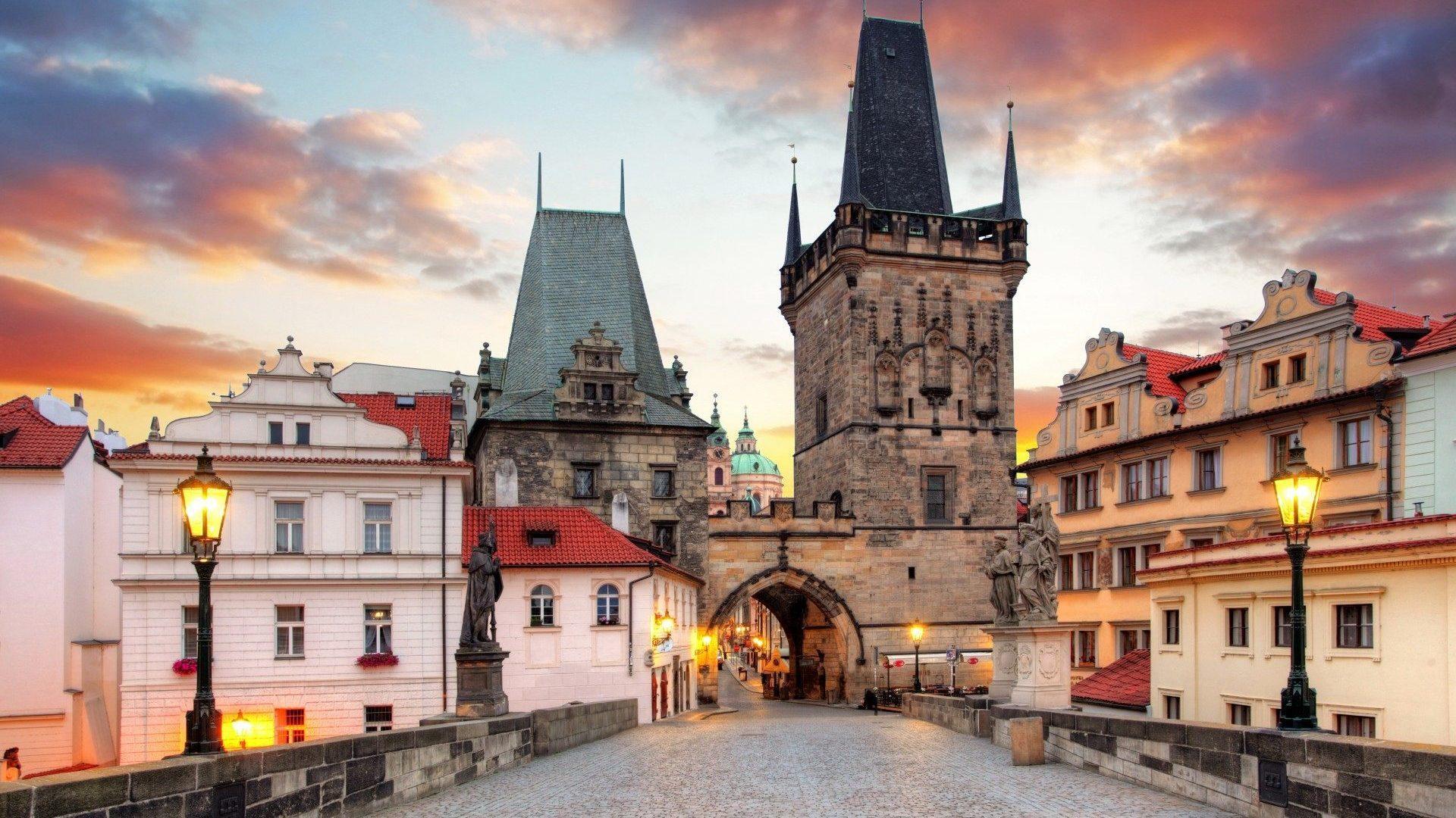 Charles Bridge Prague Photo 1920x1080